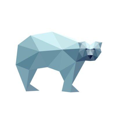 Nálepka Ilustrace polygonální medvěda