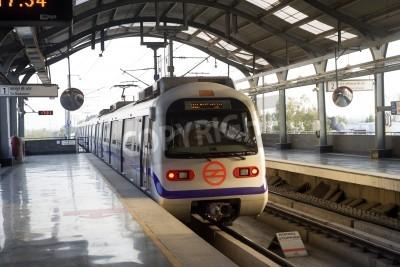 Nálepka Indická moderní vlak metra v Dillí