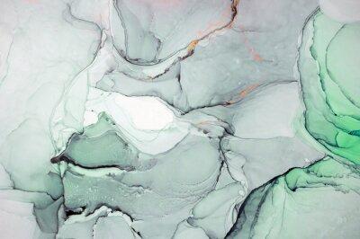 Nálepka Inkoust, barva, abstraktní. Detailní záběr na obraz. Barevné pozadí abstraktní malby. Vysoce texturovaná olejová barva. Vysoce kvalitní detaily. Alkohol inkoust moderní abstraktní malby, moderní souča
