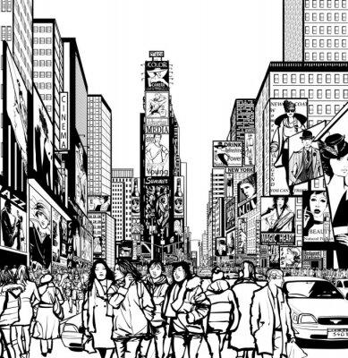 Nálepka Interpretace Times Square v New Yorku