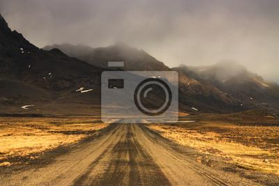 Islandský Road.