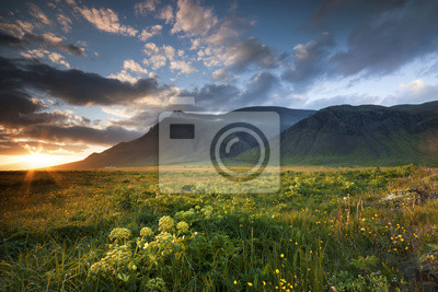 Islandský Sunset.
