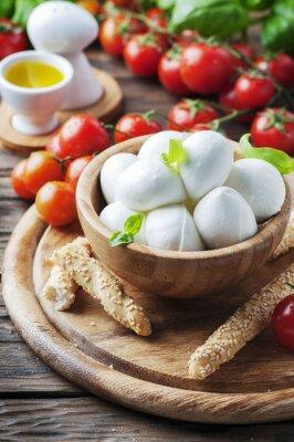 Nálepka Italská mozzarella s rajčaty a bazalkou
