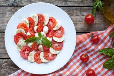 Nálepka Italská tradiční předkrmy Caprese salát s mozzarelou