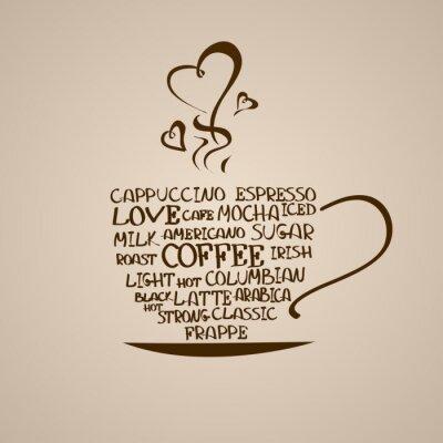 Nálepka Izolované ikona šálek kávy