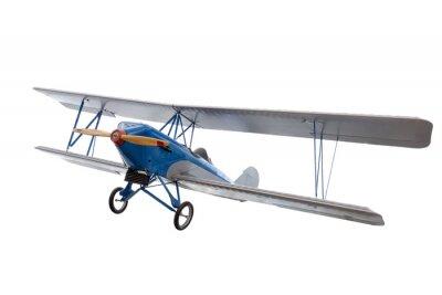 Nálepka izolované model letadla proti bílým