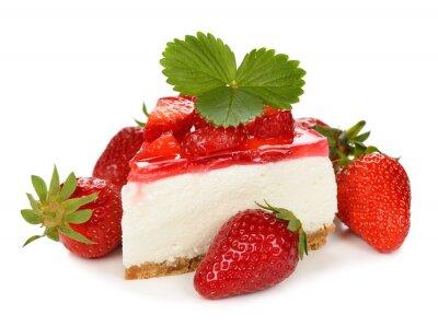 Nálepka jahodový cheesecake
