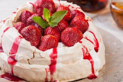 Nálepka Jahodový dort Pavlova