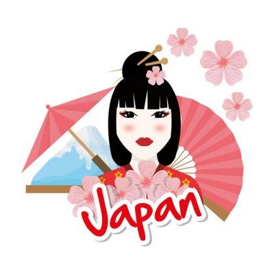 Nálepka Japonsko kultuře výprava