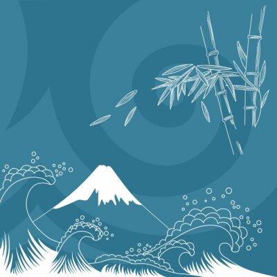 Nálepka Japonsko styl ilustrace