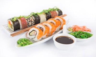 Nálepka Japonský mořské plody sushi set
