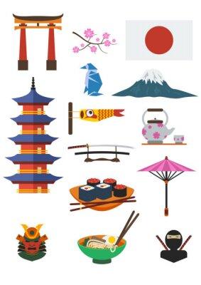 Nálepka Japonský Set Culture