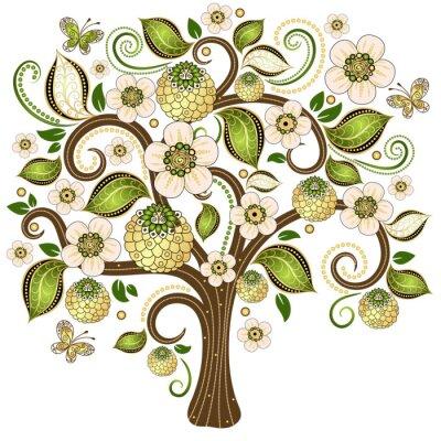 Nálepka Jarní dekorativní strom