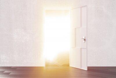 Nálepka Jasné světlo z otevřených dveří prázdné místnosti