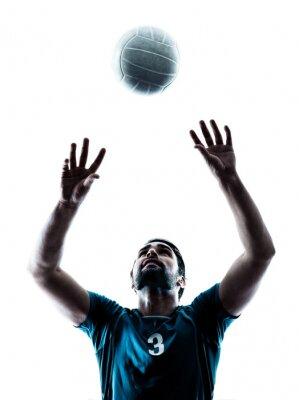 Nálepka jeden volejbal siluetu