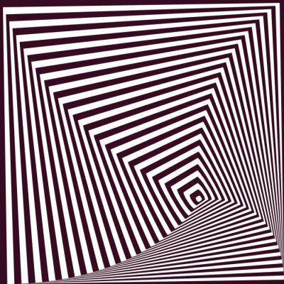 Nálepka Jednoduchý abstraktní pruhované pyramidální pozadí. optický klam t