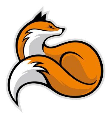 Nálepka jednoduchý fox