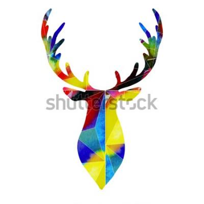 Nálepka jelení hlava