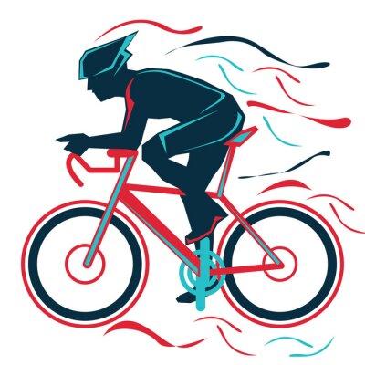 Nálepka jízda na kole, bycicle, sport