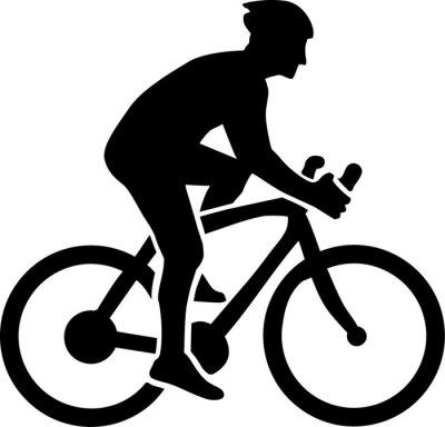 Nálepka Jízda na kole Silhouette