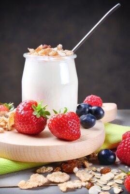 Nálepka Jogurt s müsli a bobulovin