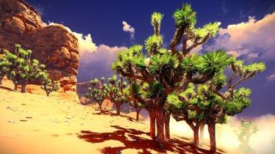 Nálepka Joshua stromy na poušti