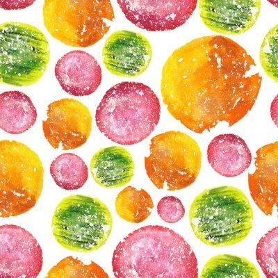 Nálepka Juicy Bright Akvarel Circle Pattern