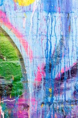 Nálepka Kapající malování graffiti stěna