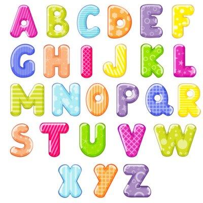 Nálepka karikatura abecedy