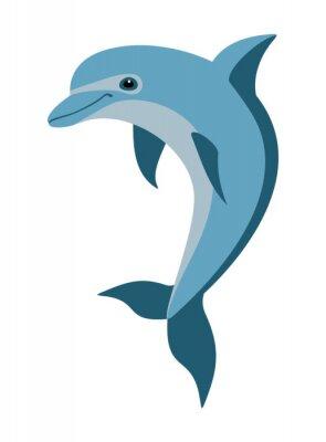Nálepka karikatura delfín