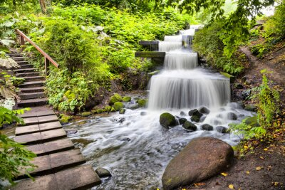Nálepka Kaskádový vodopád v Planten un Blomen v Hamburku