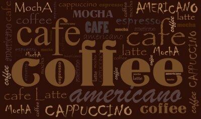 Nálepka Káva pozadí