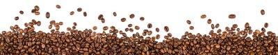 Nálepka kávová zrna na bílém pozadí