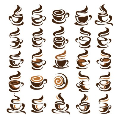 Nálepka Kávový šálek vektor