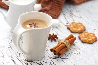 Nálepka Kávu latte a čokoládové sušenky