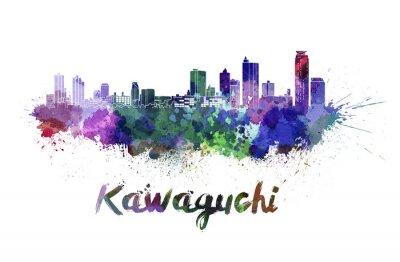 Nálepka Kawaguchi panorama v akvarel