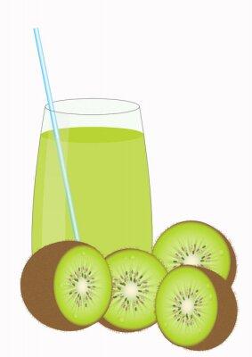 Nálepka Kiiwi ovocné šťávy a Kiwi poloviny