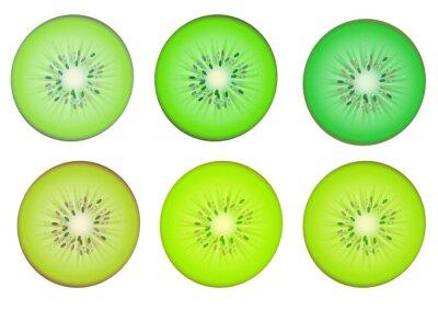 Nálepka Kiwi řezy v roztroušené zeleně odstínu barvy