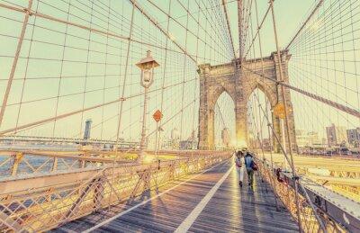 Nálepka Klasická fotografie Brooklyn most v New Yorku