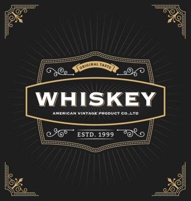 Nálepka Klasická konstrukce rámu pro etikety, poutač, logo, znak, nabídky, nálepky a jiné konstrukce. Vhodné pro whisky, pivu, kavárně, hotelu, letovisko, šperky a prémiový produkt. Všechny typy bezplatně vyu