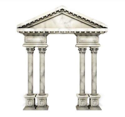 Nálepka Klasické Corinthian sloupec Arch.