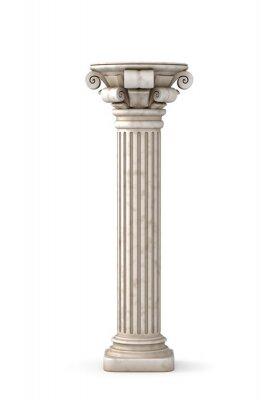 Nálepka Klasický řecký sloup. 3d rendering.