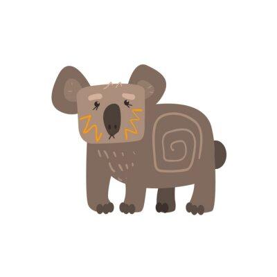 Nálepka Koala Stálý Flat Cartoon stylizované