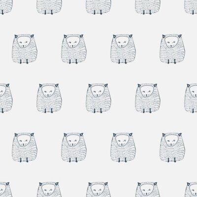 Nálepka Kočky bezproblémovou vzor. Živočišných pozadí. vektorové ilustrace