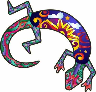 Nálepka Kokopelli Lizard