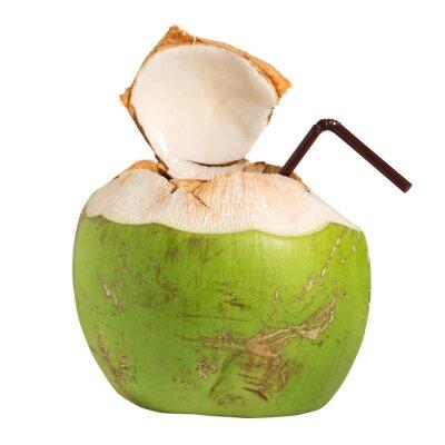 Nálepka Kokosová voda ovocný nápoj izolovaných na bílém