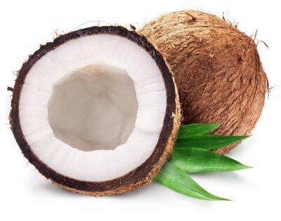 Nálepka Kokosové ořechy a to pomohlo s listy.