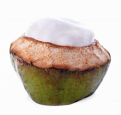 Nálepka Kokosové skořápky na bílém pozadí