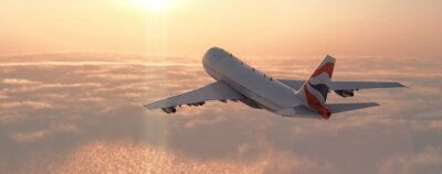 Nálepka Komerční letadlo
