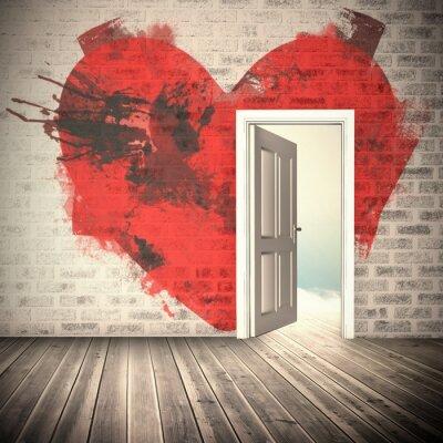 Nálepka Kompozitní obraz srdce